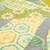 Light Olive Yellow 摺り型友禅「松几帳」染め帯 の画像