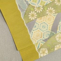 画像 Light Olive Yellow 摺り型友禅「松几帳」染め帯  の記事より 2つ目