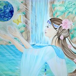 画像 今日の神様「瀬織津姫ー祈り」サワ・ローランの世界展 の記事より 3つ目