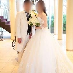 画像 ウェディングレポート スカラップ調のグリッターレースが華やかなウェディングドレス の記事より 5つ目