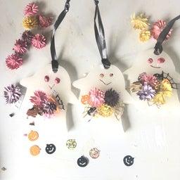 画像 【動画レッスン】シャカシャカ中が動いて音がする可愛い箸置き ハロウィンにもお勧め!100均押し花 の記事より 5つ目