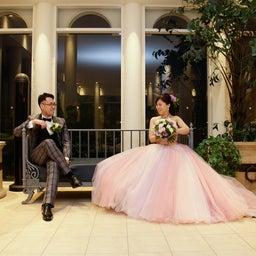 画像 ウェディングレポート ピンクとラベンダー グラデーションが美しいカラードレス の記事より 2つ目