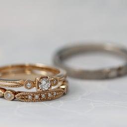 画像 綺麗に重なるパーフェクトセットリング♡結婚指輪をご紹介!【AFFLUX京都雅店】 の記事より 4つ目