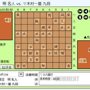 JT杯将棋日本シリーズ~木村一基九段vs渡辺明名人の画像