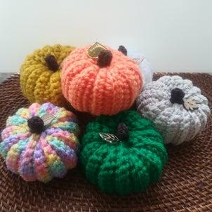 かぼちゃの編み物の画像