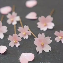 画像 透明感が可愛すぎる❀ほんのりピンクの桜は〇〇で作りました の記事より 4つ目