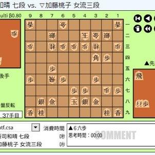 王座戦一次予選加藤~加藤桃子女流三段vs所司和晴七段の画像