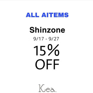 【Kea./ECshop】10日間限定〈shinzone15%OFF〉の画像