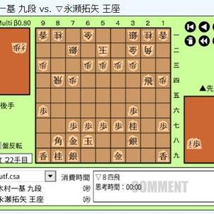 王座戦5番勝負第2局~木村一基九段vs永瀬拓矢王座の画像