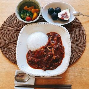 【今日のお昼ごはん】ハッシュドビーフの画像