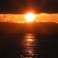 西桟橋の夕陽