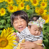 ☆向日葵畑で可愛い仲良し兄妹フォト☆の画像