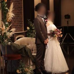 画像 ウェディングレポート ボリュームのあるトップスにスレンダーラインのバランスが絶妙なドレス の記事より 3つ目