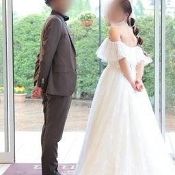 画像 ウェディングレポート ボリュームのあるトップスにスレンダーラインのバランスが絶妙なドレス の記事より 5つ目