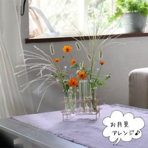 野花のお月見アレンジ♪の画像