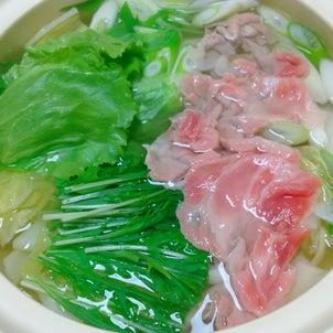 簡単!豚肉とレタスのしゃぶしゃぶ鍋の画像