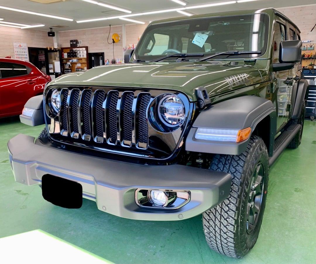 Jeep ラングラーアンリミテッド 新車 リアルガラスコートclassM施工
