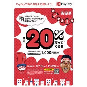 PayPay20%戻ってくるキャンペーン参加店です!街P祭!!の画像