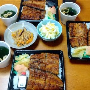 うな重とお総菜の物々交換♡の画像
