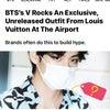 BTSのV、空港でルイヴィトンの独占的な未発表の衣装を着こなすの画像