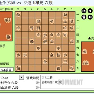 順位戦C級2組4回戦~中村亮介六段vs遠山雄亮六段の画像