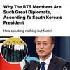 韓国の大統領、BTSのメンバーが偉大な外交官である理由を話すの画像