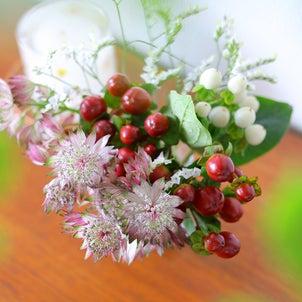 秋のお花と新入りさん♪の画像