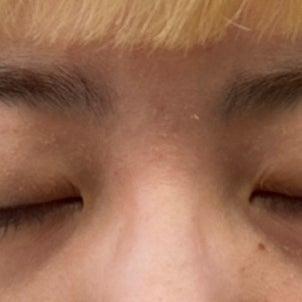 """""""100均にあるもので眉毛パーマができるか検証した結果""""のつづき。の画像"""