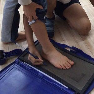 月初めは足計測の画像