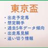 東京盃2021 注目馬考察!の画像