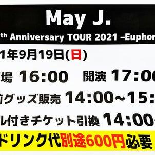 May J. 15th Anniversary Tour 2021 Euphoria 初日@大阪の画像