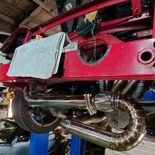 MR-S,K20A換装車両、レーシングマフラー製作。の画像