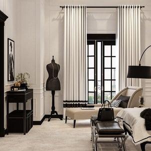 テーマ「ココ・シャネル」のベッドルームの画像