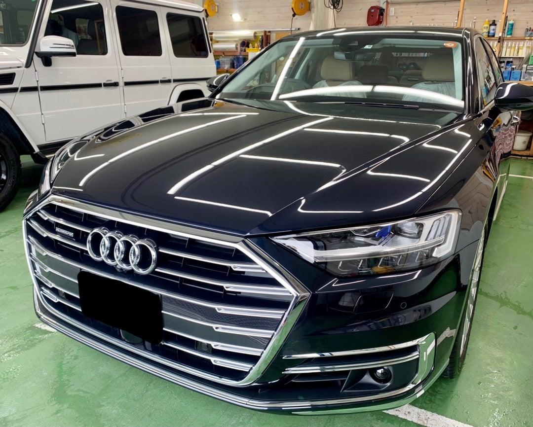 アウディA8 新車 リアルガラスコートclassM 施工