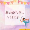 秋のゆらぎに『1日1汗』|徳島・鳴門の美容鍼灸と発酵よもぎ蒸しサロンRomanifの画像