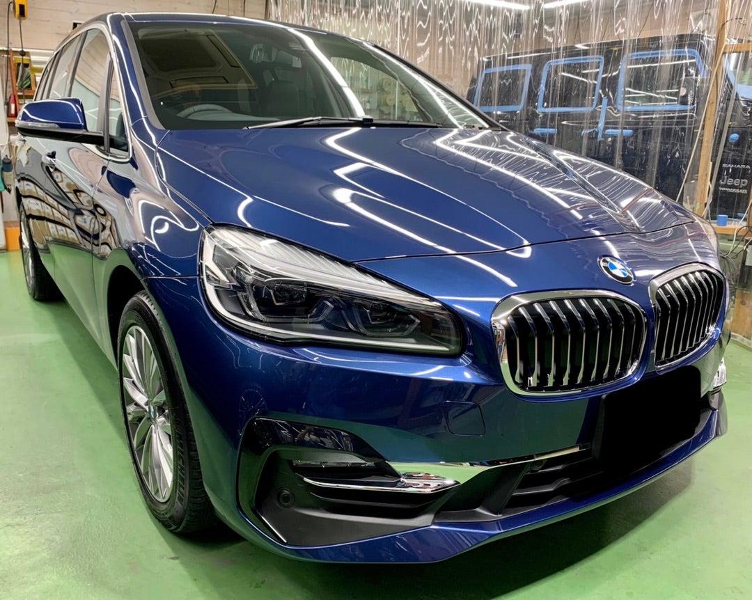 BMW 2シリーズ グランツアラ 新車 リアルガラスコートclassH施工