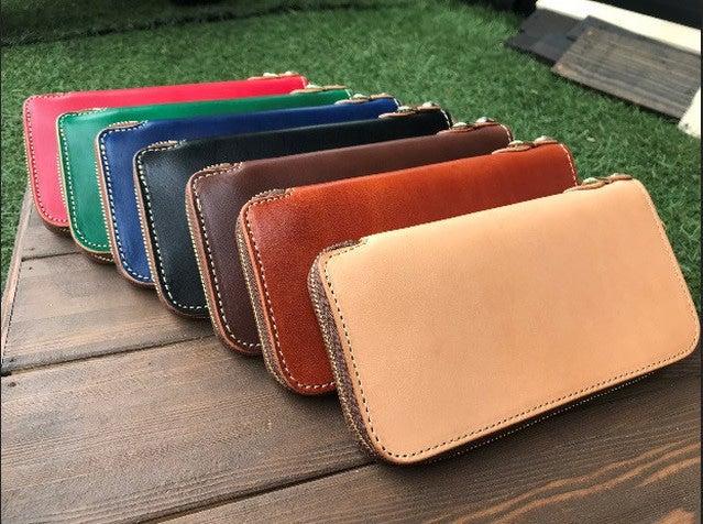 シンプルで上質なラウンドファスナーの長財布