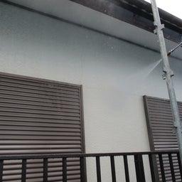 画像 ひたちなか市 外壁塗装屋根塗装G様邸 塗装前水洗い 富士塗装店 の記事より 1つ目