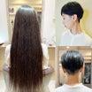 """""""J161 OLさんの黒髪ロングをバリカンで刈り上げました。"""""""""""