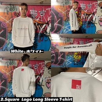 商品別着用イメージ画像② スクエアロゴロングスリーブTシャツ