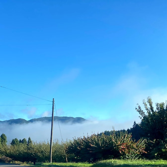 雲海と霧の中を通って