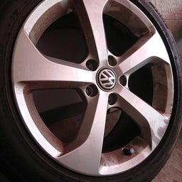 画像 アルミホイール 修理 福岡 VW ガリキズ 修復 の記事より 5つ目