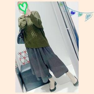 ★新作!ホヤホヤ❤︎antiquaのイマドキ!カーキニットでメンズぽい秋コーデ♪の画像