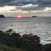<名古屋営業所のAドライバーさん>日本海に沈む夕日の画像