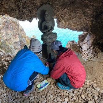 ❣️赤岩白龍胎内巡りの洞窟清掃、願望は叶う❣️