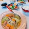 #スープ煮 #今晚的晚饭 #温まるね #スープ #野菜たっぷりの画像