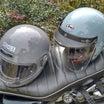 ヘルメットの衣替えW650編