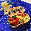 あきちゃんちのラララ♪お弁当♪手羽先の韓国風甘辛揚げ&鮭おにぎりでお弁当編