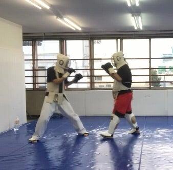 沖縄拳法 防具組手 捕手