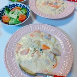 画像 #クリームシチュー #晩ご飯 #お母さんの料理 #シチュー 手作り #野菜いっぱい の記事より 3つ目